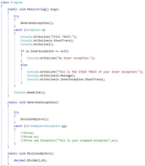 MainProgramStackTrace